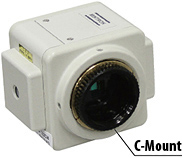 C-Mount CCD/CMOS camera zoom microscope adapter. Compatible with various CCD/CMOS sizes with zoom feature (0.35 - 0.7x)