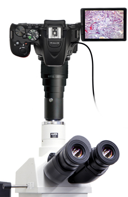 DSLR microscope adapter set with Nikon D5600