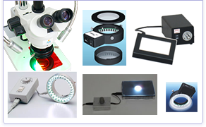 Lighting for stere-omicroscope, CCD Microscope, quality control, measurement